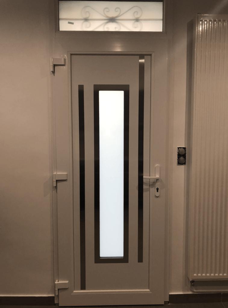 nos réalisation fermetures - porte d'entrée en pvc