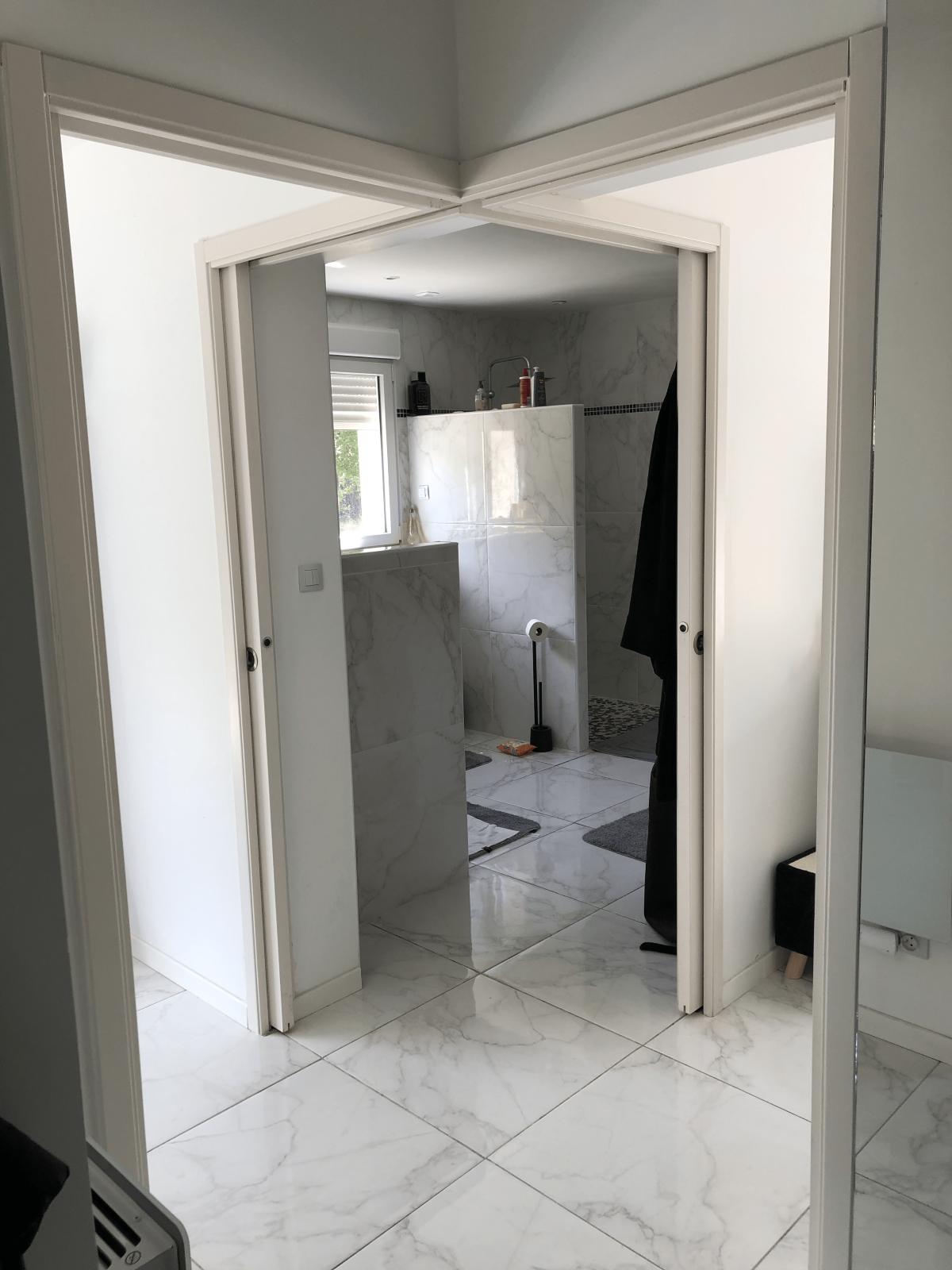 nos réalisation - salle de bain - rénovation de carrelage de douge