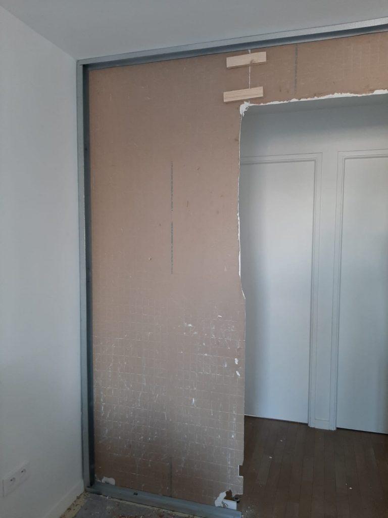 Pose d'une nouvelle entrée pour un appartement